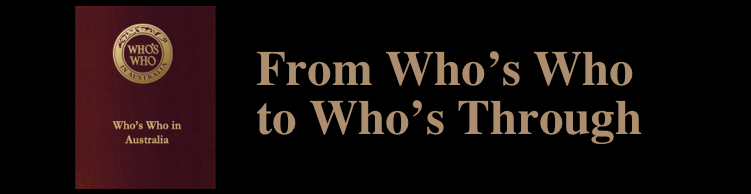 From who's who to who's through with Michael Harrison